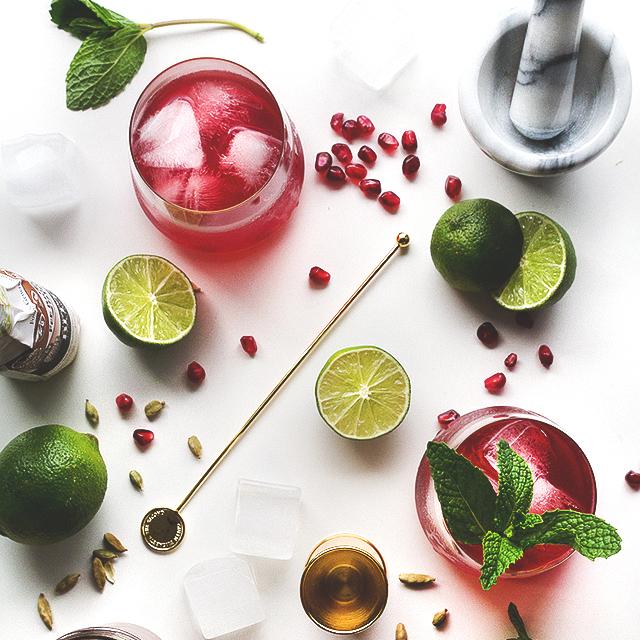 summer, summer cocktails, pomegranate, summer drinks,